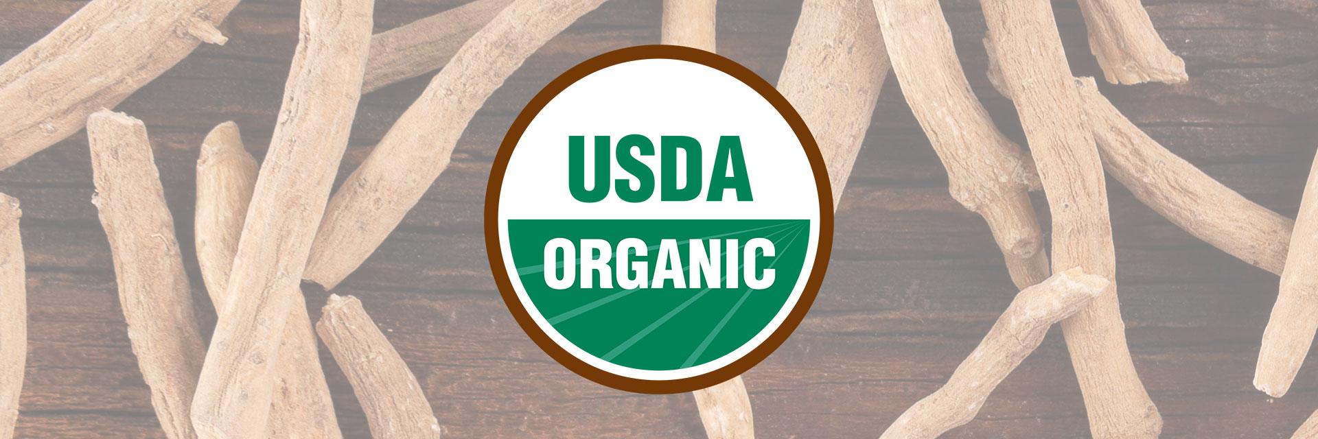 Organic Ashwagandha Certification USDA Organic